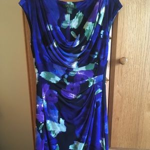 Lauren by Ralph Lauren Floral Dress. Size 4.